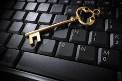 Clé d'or Image stock