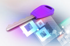 clé 3D Images stock