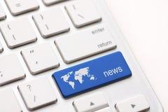 Clé d'actualités Images stock