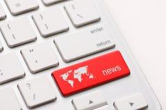 Clé d'actualités Photo stock