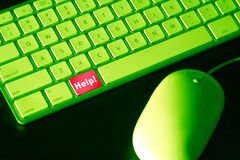 Clé d'aide Photo stock