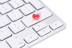 Clé d'amour sur le clavier d'ordinateur Photo libre de droits