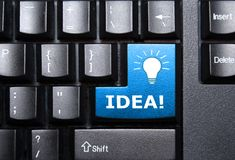 Clé d'idée Photo libre de droits