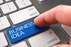 Clé d'idée d'affaires de presse de doigt de main 3d Images libres de droits