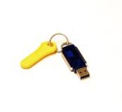 Clé d'USB et de passage photographie stock
