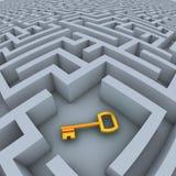 Clé dans le labyrinthe Image libre de droits