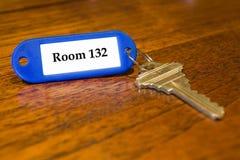 Clé de chambre d'hôtel Image libre de droits