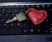 Clé de clavier principale de coeur Photographie stock