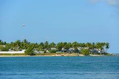 Clé de coucher du soleil à côté de Key West, la Floride, Etats-Unis Photo stock