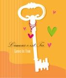 Clé de l'amour Illustration Libre de Droits