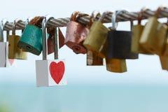 Clé de l'amour de coeur Photo libre de droits