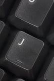 Clé de l'ordinateur J Photo stock