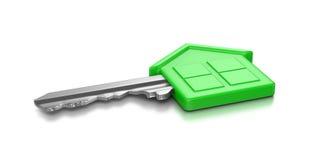 clé de maison verte Image libre de droits