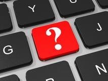 Clé de point d'interrogation sur le clavier de l'ordinateur portable illustration de vecteur