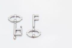 Clé de puzzle en métal Photo stock
