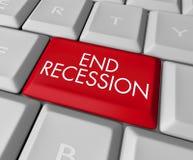 Clé de récession de fin sur le clavier d'ordinateur Photos libres de droits