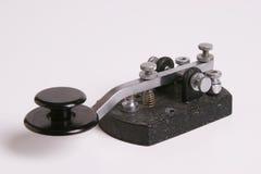 Clé droite de code Morse Photographie stock libre de droits