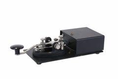 Clé droite de code Morse Images libres de droits