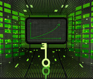 Clé légère à la prévision ou aux résultats positifs de graphique d'affaires illustration de vecteur