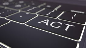 Clé lumineuse noire de clavier et d'acte d'ordinateur Rendu 3d conceptuel illustration de vecteur