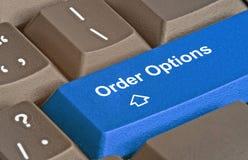 Clé pour des options d'ordre photographie stock libre de droits