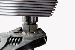 Clé réglable, réparation, approvisionnement en eau Photos libres de droits