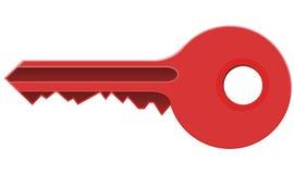 Clé rouge illustration de vecteur