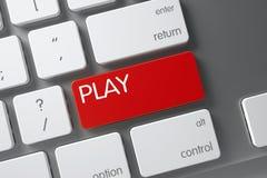 Clé rouge de jeu sur le clavier 3d Photo libre de droits