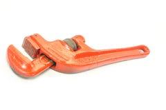 Clé rouge de plombiers Image libre de droits