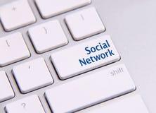 Clé sociale de media Images stock