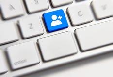 Clé sociale de media Image stock