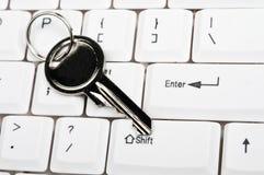Clé sur le clavier Image libre de droits