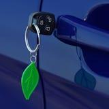 Clé verte de voiture Photos libres de droits