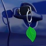 Clé verte de voiture Photos stock