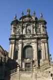 Clérigos教会的巴洛克式的门面,城市波尔图,葡萄牙 图库摄影