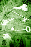 Clés à la liberté financière photo stock