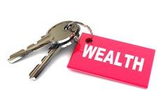 Clés à la richesse Image stock