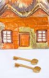 Clés à une maison neuve. Photographie stock