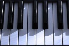Clés électriques de piano images libres de droits