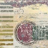 Clés abstraites et guitare de piano de fond Photographie stock libre de droits