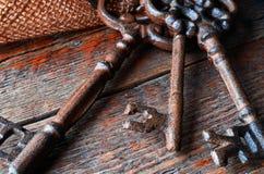 Clés antiques en métal Photographie stock