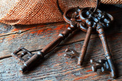 Clés antiques en métal Image libre de droits