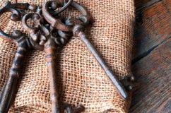 Clés antiques en métal Photos libres de droits