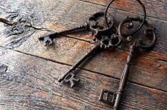 Clés antiques en métal Photo stock