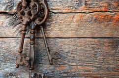 Clés antiques en métal Photo libre de droits