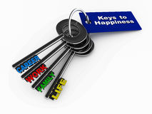 Clés au bonheur Photos stock