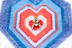 Clés au coeur gelé Photographie stock