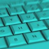 Clés brouillées d'ordinateur portatif Photo stock