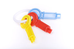 Clés colorées de jouet Photos libres de droits