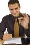 clés d'homme d'affaires image stock